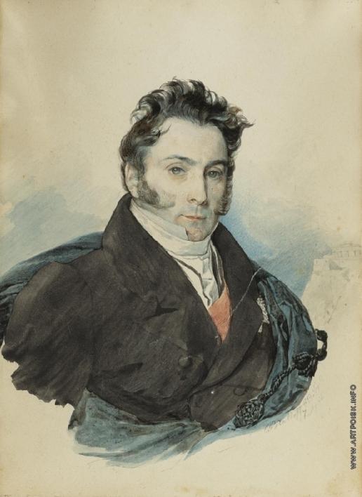 Брюллов К. П. Портрет графа Александра  Рибопьера
