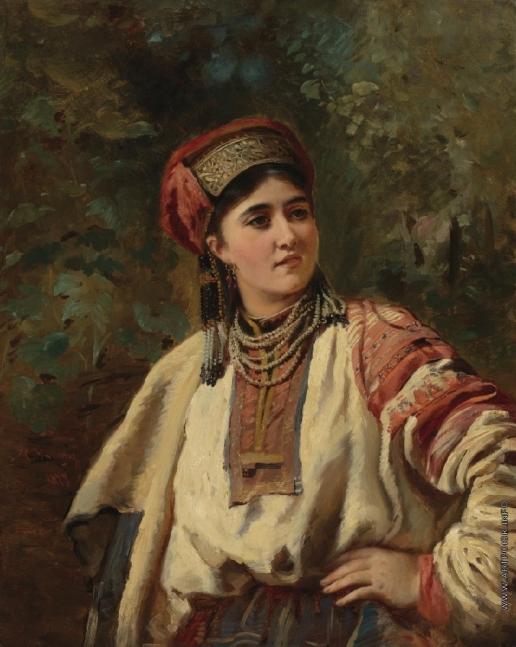 Маковский К. Е. Девушка в народном костюме