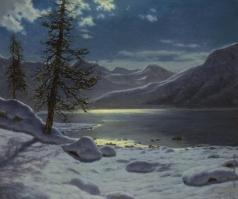 Шультце И. Ф. Озеро в лунном свете. Зима