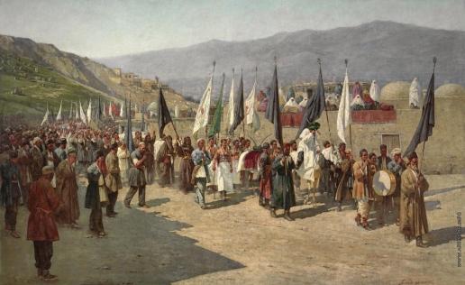 Зоммер Р. К. Процессия в честь праздника Ашура