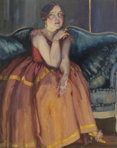 Сомов К. А. Женщина с сигаретой
