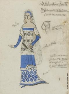 Бакст Л. С. Эскиз костюма для 10 женщин-христиан