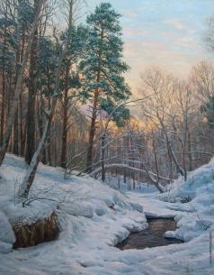 Брусилов С. А. Зимний вечер у ручья