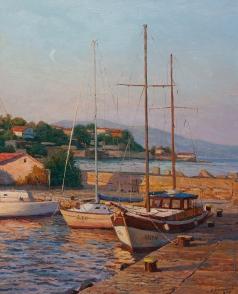 Брусилов С. А. Яхты на закате
