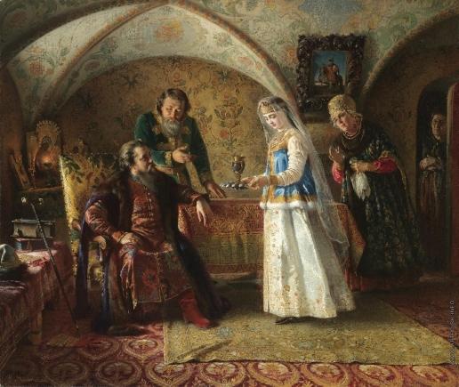 Маковский К. Е. Сценка из жизни бояр 17 века