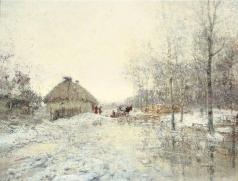 Похитонов И. П. Оттепель (Русская зима)