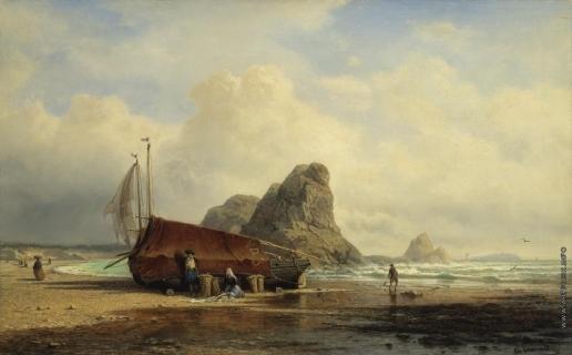 Боголюбов А. П. прибрежная сцена. Бретань