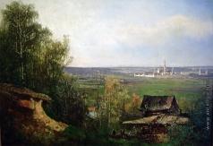 Ясновский Ф. И. Вид на Новодевичий монастырь