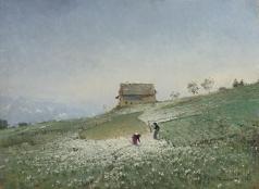 Похитонов И. П. Крестьяне в поле