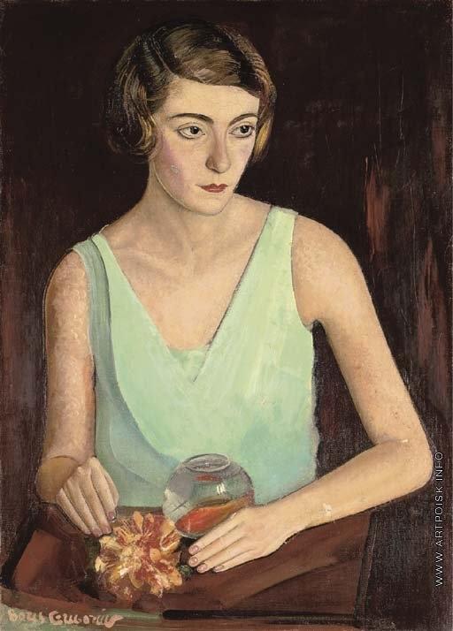 Григорьев Б. Д. Женщина в зелёном платье