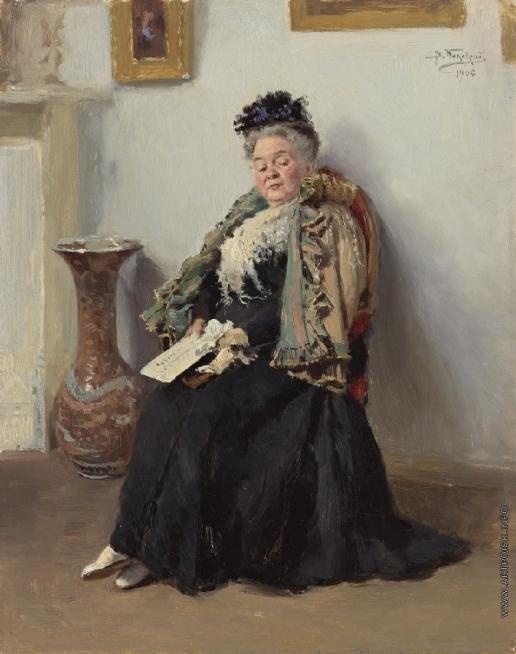 Маковский В. Е. Портрет дворянки