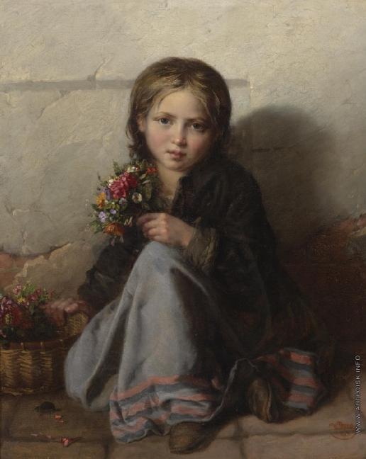 Рачков Н. Е. Портрет девочки