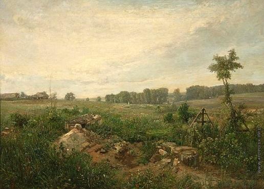 Ясновский Ф. И. Кладбище в Мазилове под Москвой