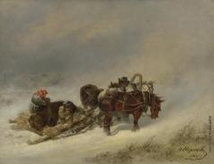 Сверчков Н. Е. Зимняя охота