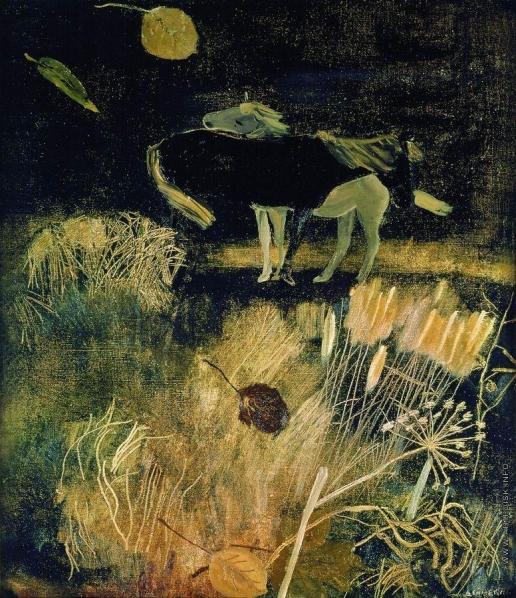 Дейнека А. А. Ночной пейзаж