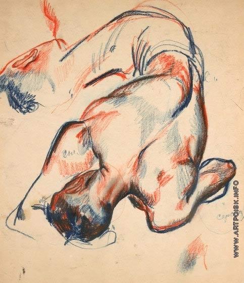 Дейнека А. А. Рисунок к картине «Боксер Градополов»