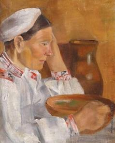 Дейнека А. А. Портрет матери