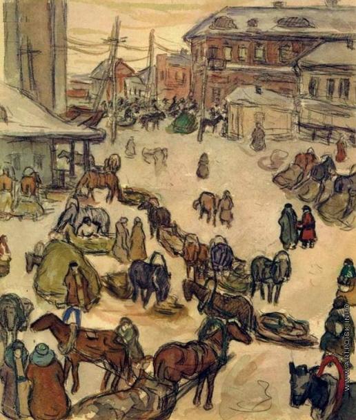 Дейнека А. А. Зима в Курске