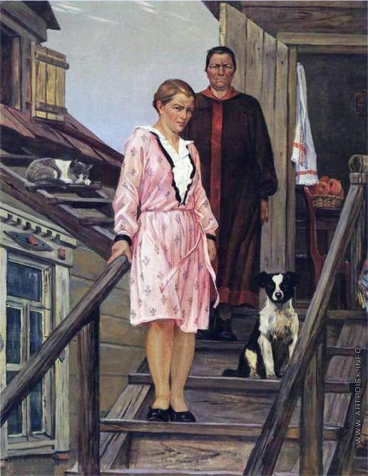 Дейнека А. А. Мать и сестра