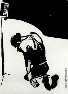 Дейнека А. А. Припекло. Рисунок для журнала «Безбожник у станка»