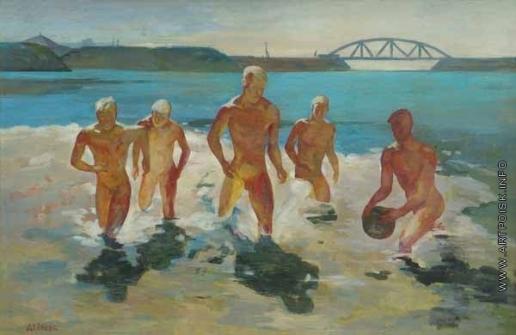 Дейнека А. А. Мальчики, выбегающие из воды