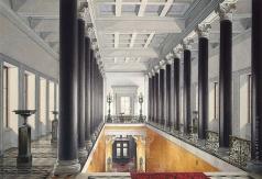 Гау Э. П. Парадная лестница Нового Эрмитажа Площадка II этажа (перспектива с юга на север)