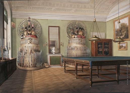 Гау Э. П. Виды залов Зимнего дворца. Бильярдная императора Александра II