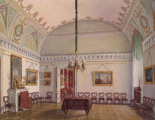 Гау Э. П. Виды залов Зимнего дворца. Вторая запасная половина. Второй зал
