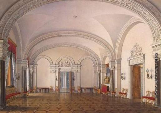 Гау Э. П. Виды залов Зимнего дворца. Вторая запасная половина. Первый зал