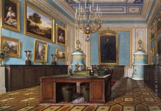 Гау Э. П. Виды залов Зимнего дворца. Зал Совета императора Александра I