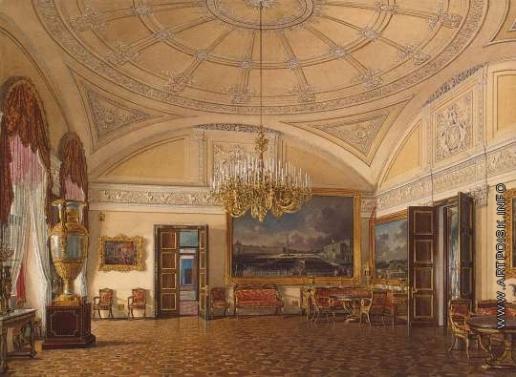 Гау Э. П. Виды залов Зимнего дворца. Первая запасная половина. Большой салон