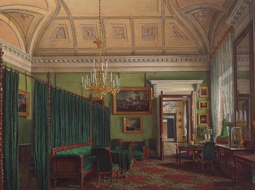 Гау Э. П. Виды залов Зимнего дворца. Первая запасная половина. Кабинет герцога М. Лейхтенбергского
