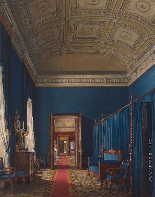 Гау Э. П. Виды залов Зимнего дворца. Первая запасная половина. Туалетная герцога М. Лейхтенбергского