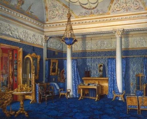 Гау Э. П. Виды залов Зимнего дворца. Спальня императрицы Александры Федоровны