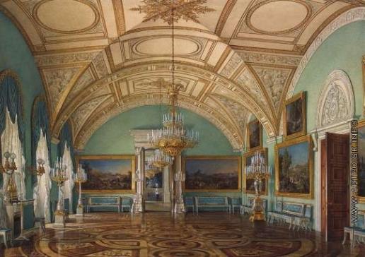 Гау Э. П. Виды залов Зимнего дворца. Третий зал Военной галереи