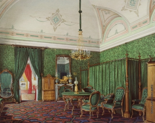 Гау Э. П. Виды залов Зимнего дворца. Третья запасная половина. Спальня