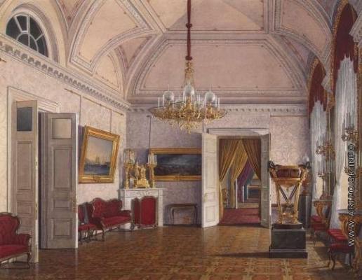 Гау Э. П. Виды залов Зимнего дворца. Третья запасная половина. Четвертая комната