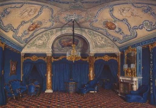 Гау Э. П. Виды залов Зимнего дворца. Четвертая запасная половина. Спальня