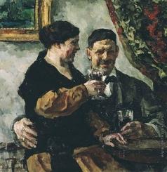 Кончаловский П. П. Автопортрет с женой