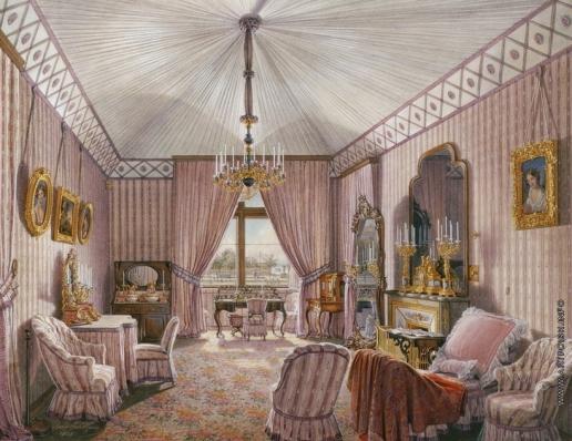 Гау Э. П. Виды залов Зимнего дворца. Четвертая запасная половина. Туалетная