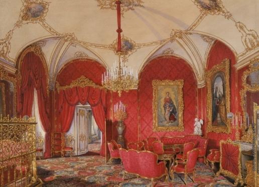 Гау Э. П. Виды залов Зимнего дворца. Четвертая запасная половина. Угловой зал