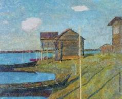 Зверьков Е. И. Пейзаж с лодкой