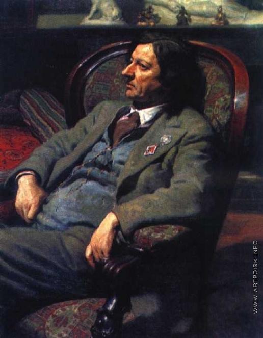 Лактионов А. И. Портрет художника И.И. Бродского
