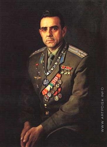 Лактионов А. И. Портрет летчика-космонавта В. М. Комарова