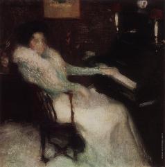 Грабарь И. Э. Дама у пианино