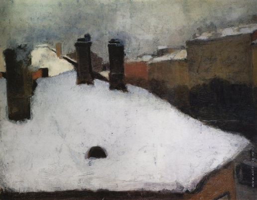 Грабарь И. Э. Крыши под снегом