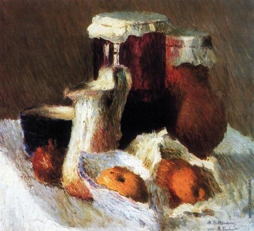Грабарь И. Э. Банка с вареньем и яблоки