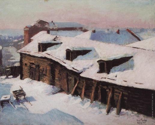 Грабарь И. Э. Старый сарай в морозный день
