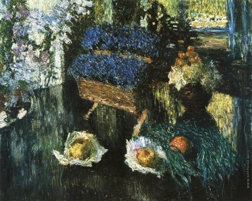 Грабарь И. Э. Цветы и фрукты на рояле