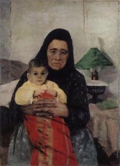 Грабарь И. Э. Няня с ребенком